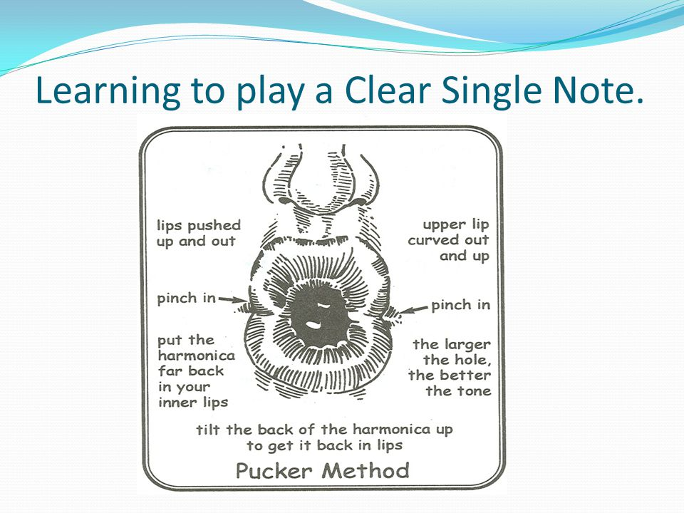 Learning to play a Clear Single Note.