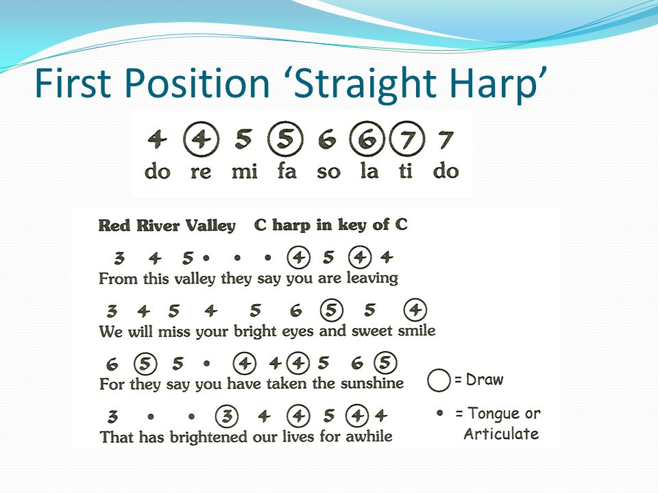 First Position 'Straight Harp'