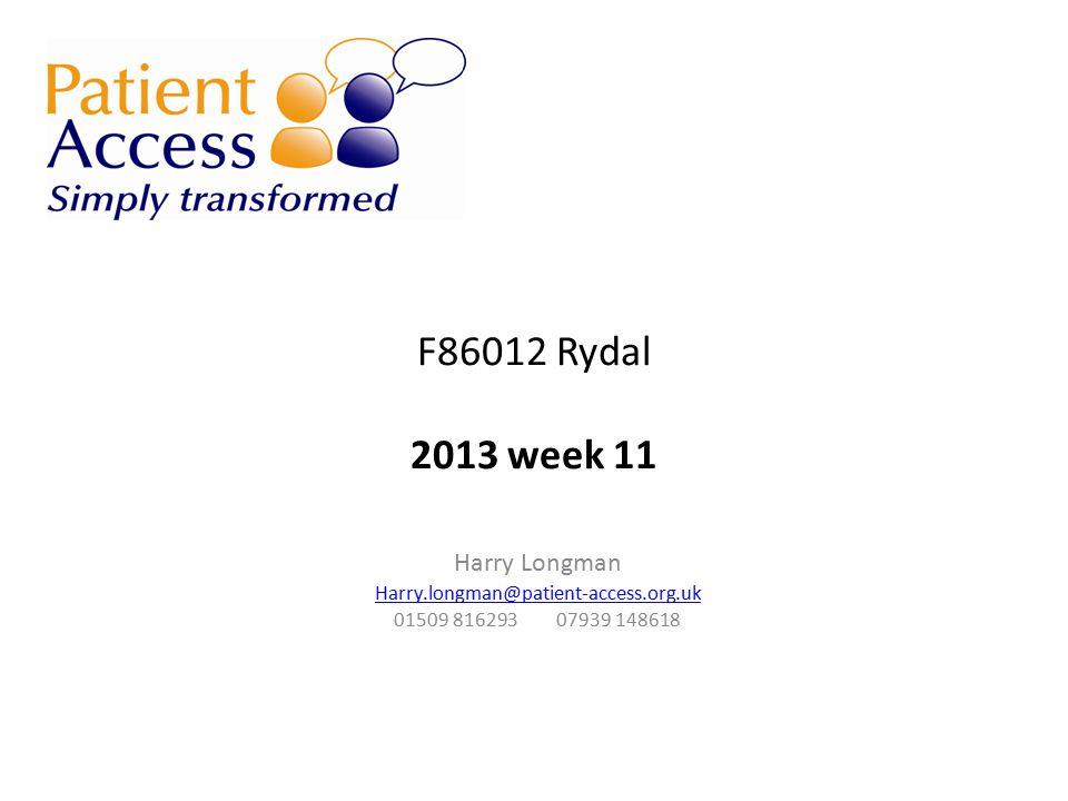 F86012 Rydal 2013 week 11 Harry Longman Harry.longman@patient-access.org.uk 01509 816293 07939 148618