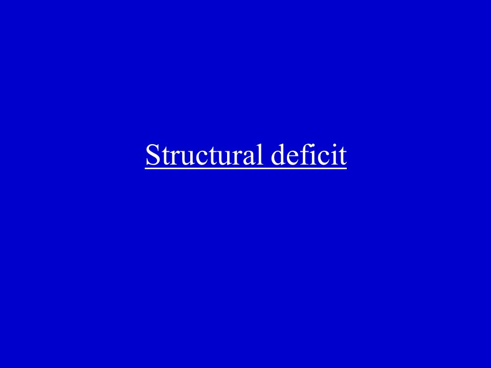 _______ describes a deficit the government incurs at full employment.