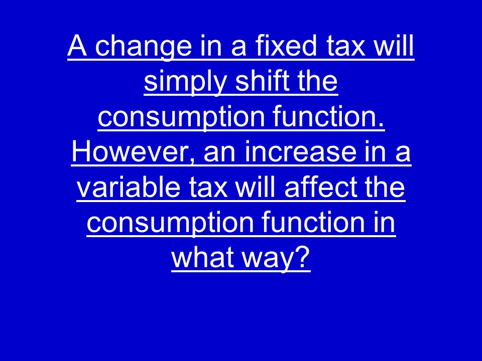 Fixed tax