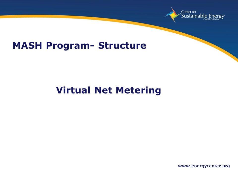 13 www.energycenter.org Virtual Net Metering MASH Program- Structure