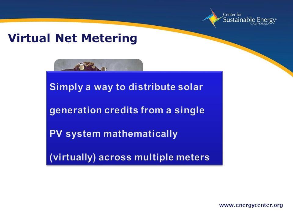 16 www.energycenter.org Virtual Net Metering