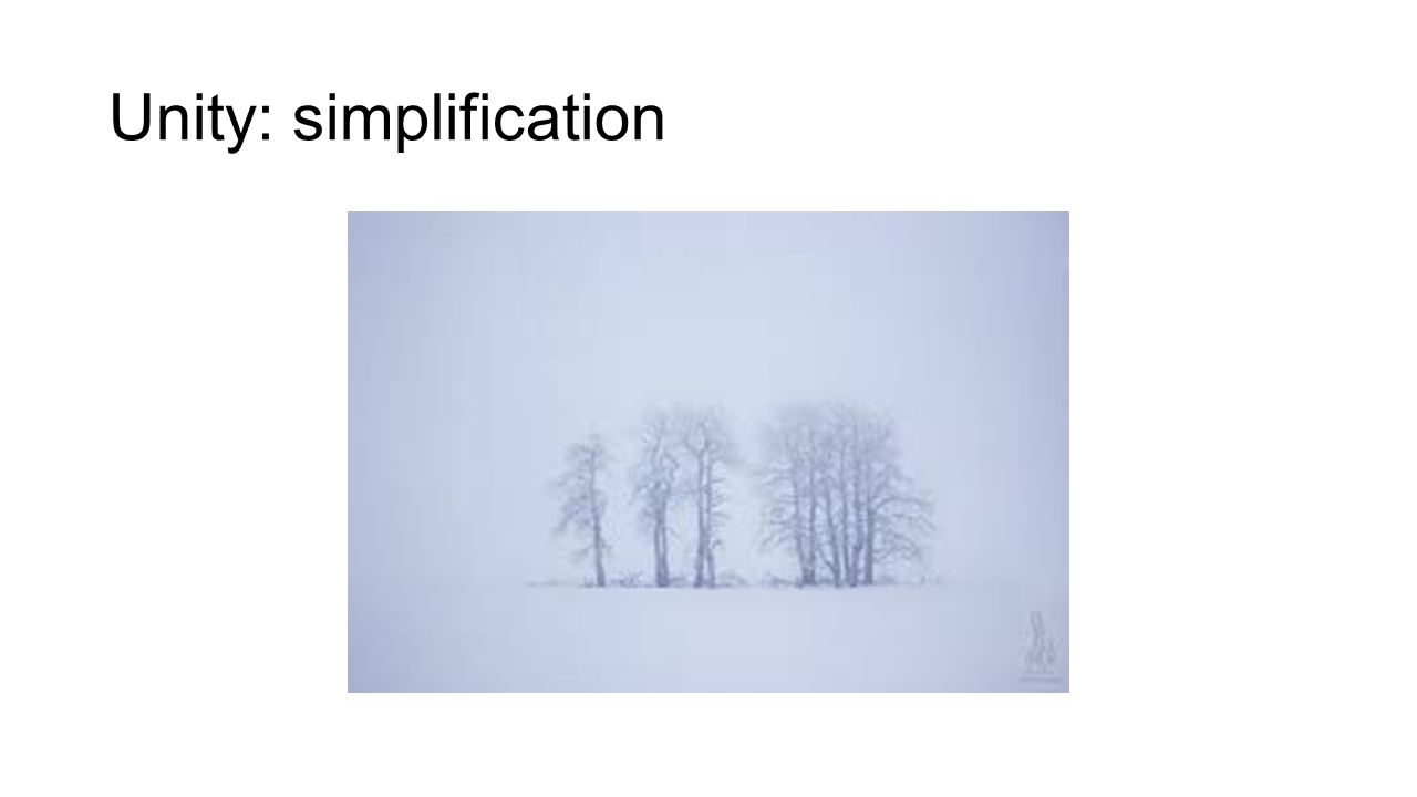 Unity: simplification