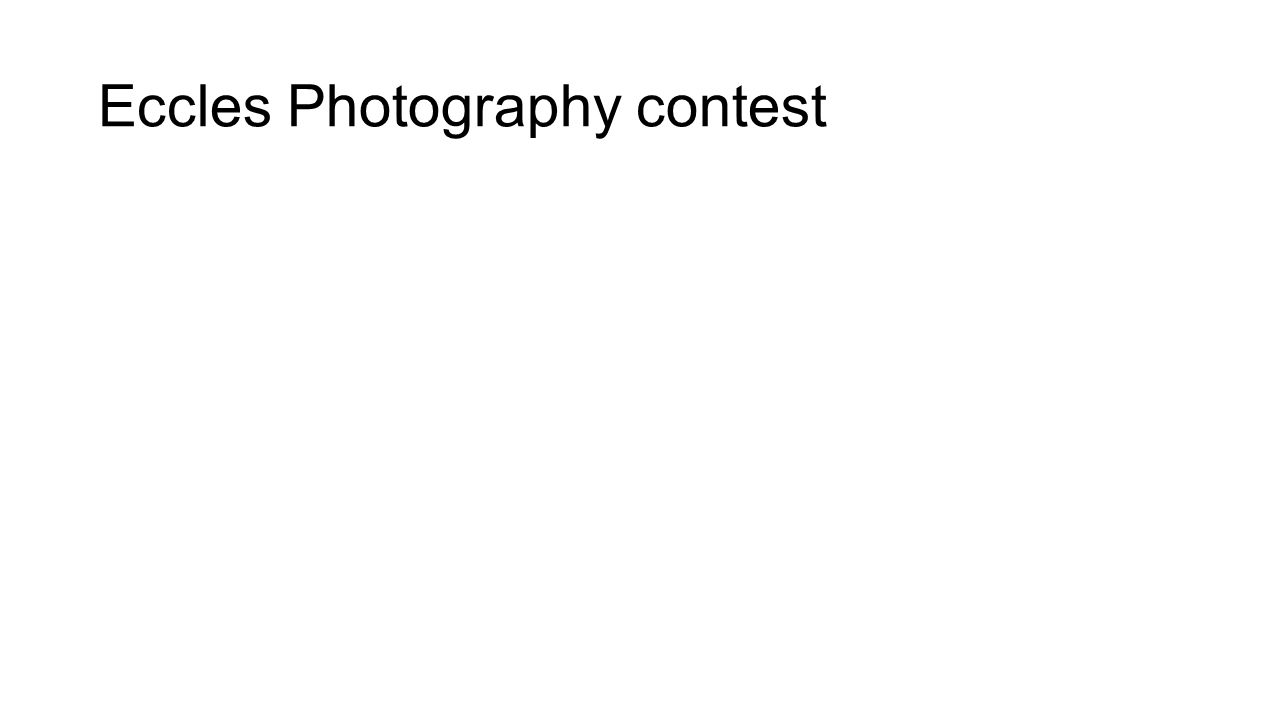 Eccles Photography contest