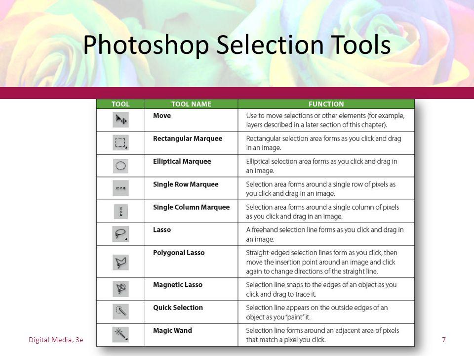Photoshop Selection Tools Digital Media, 3e7
