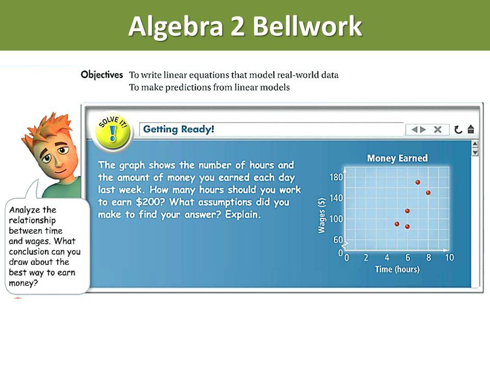 Algebra 2 Bellwork