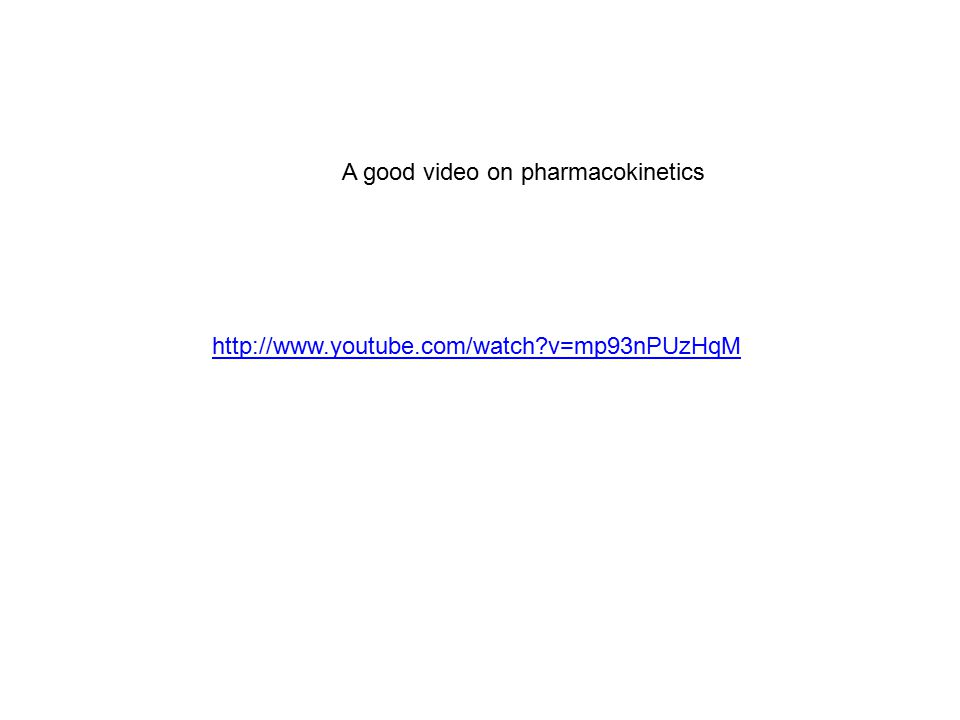 http://www.youtube.com/watch?v=mp93nPUzHqM A good video on pharmacokinetics