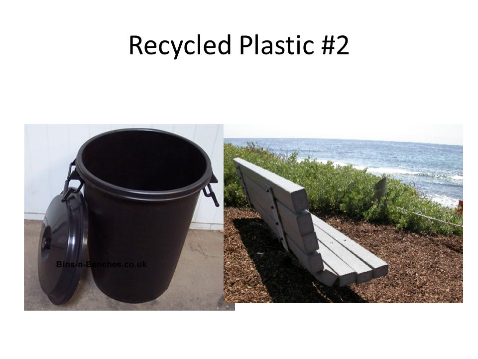 Vinyl or polyvinyl chloride (# 3 V or PVC) Clear food packaging Plumbing pipe *Could be recycled but generally isn't