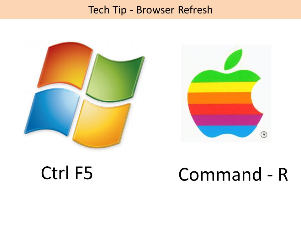 Tech Tip - Browser Refresh Ctrl F5 Command - R
