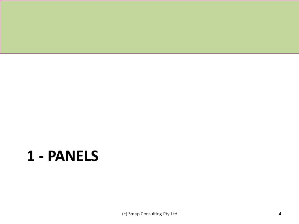 1 - PANELS (c) Smap Consulting Pty Ltd4