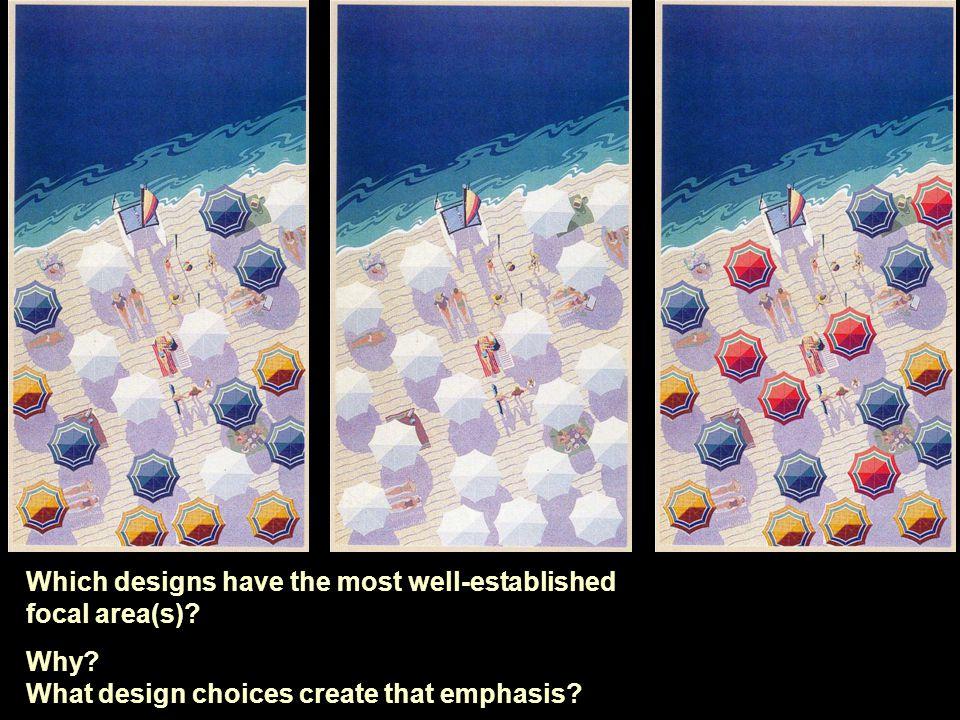 Fig: Pg: Artist/Designer: Title: Medium: Design Basics Which designs have the most well-established focal area(s).