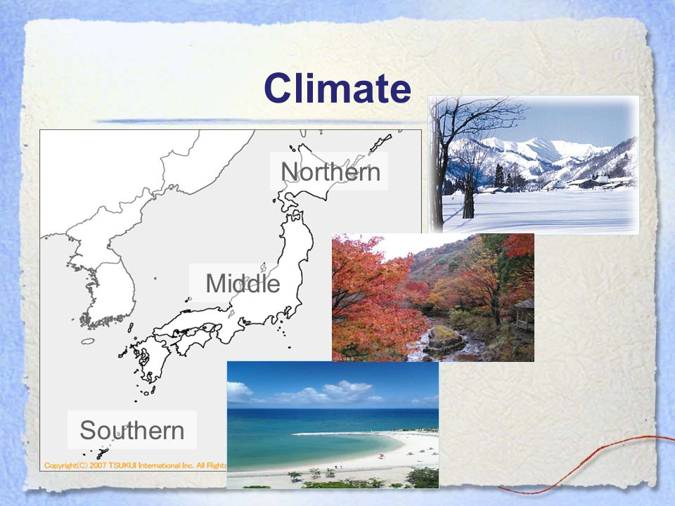 Climate Northern Middle Southern