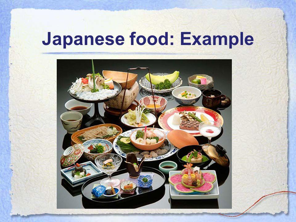 Japanese food: Example