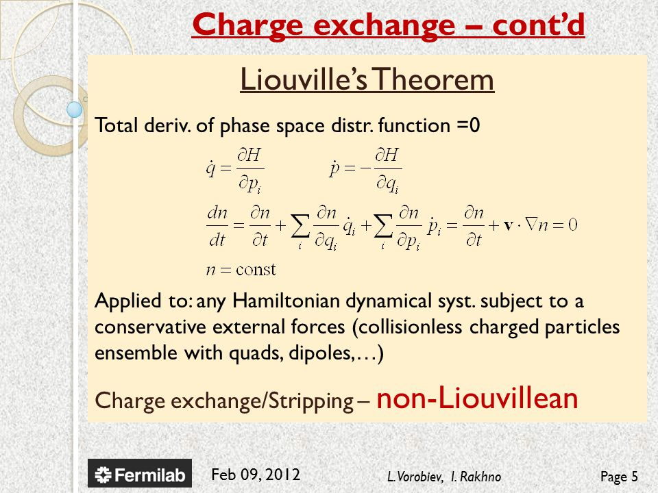 Feb 09, 2012 L. Vorobiev, I. RakhnoPage 5 Liouville's Theorem Total deriv.