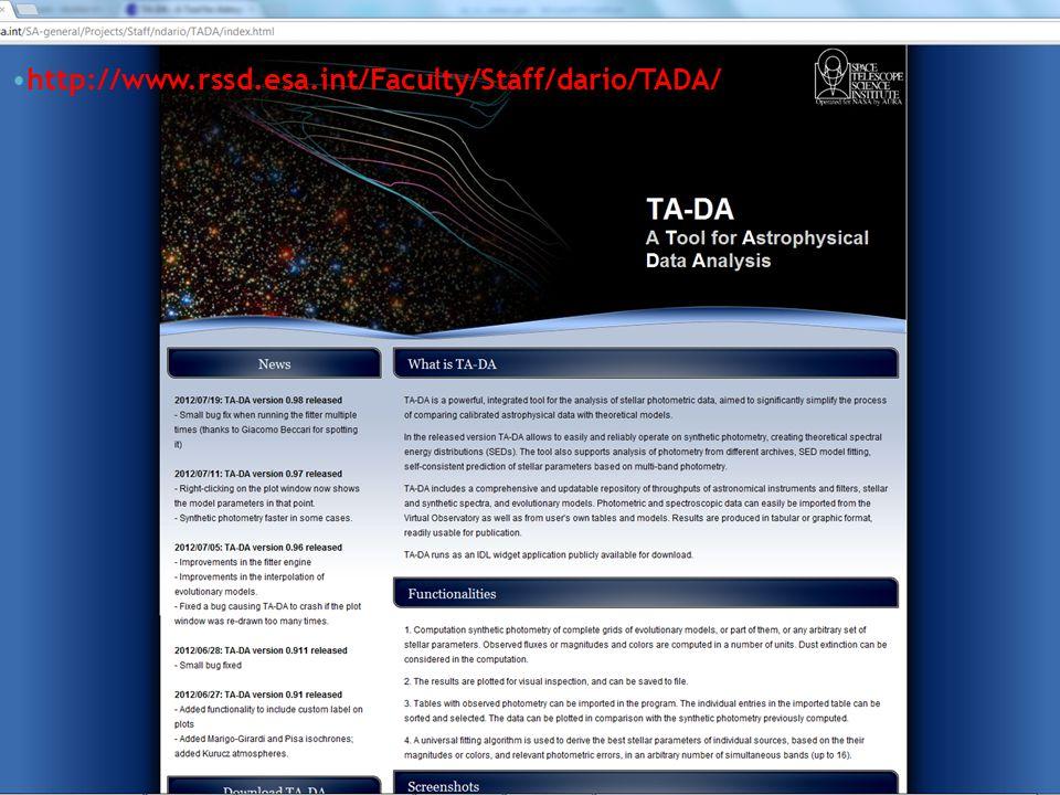 http://www.rssd.esa.int/Faculty/Staff/dario/TADA/