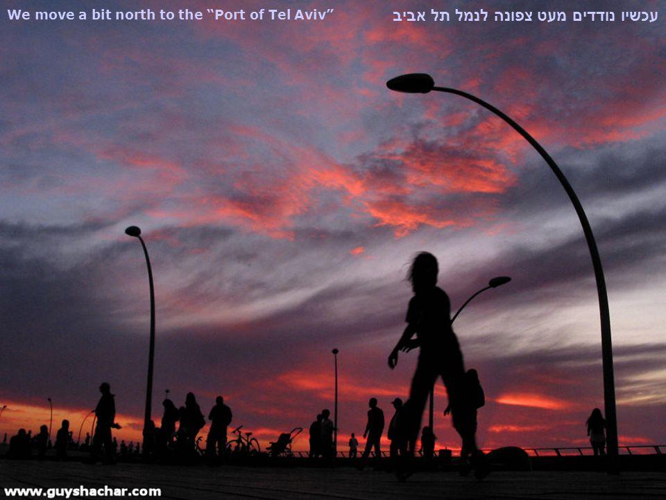 We move a bit north to the Port of Tel Aviv עכשיו נודדים מעט צפונה לנמל תל אביב