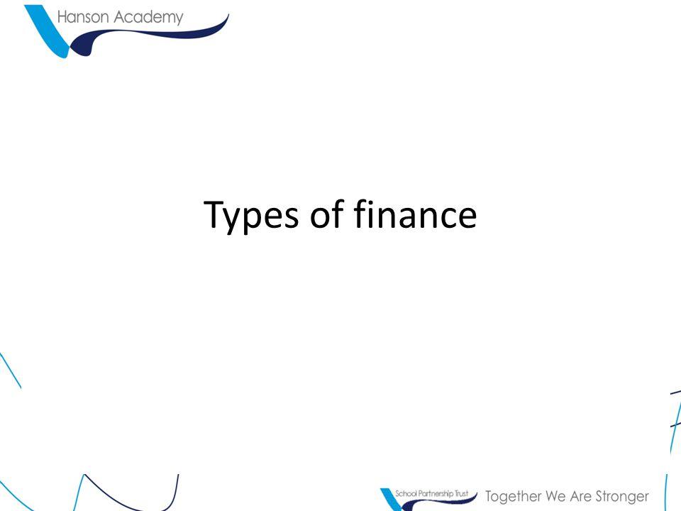 Types of finance
