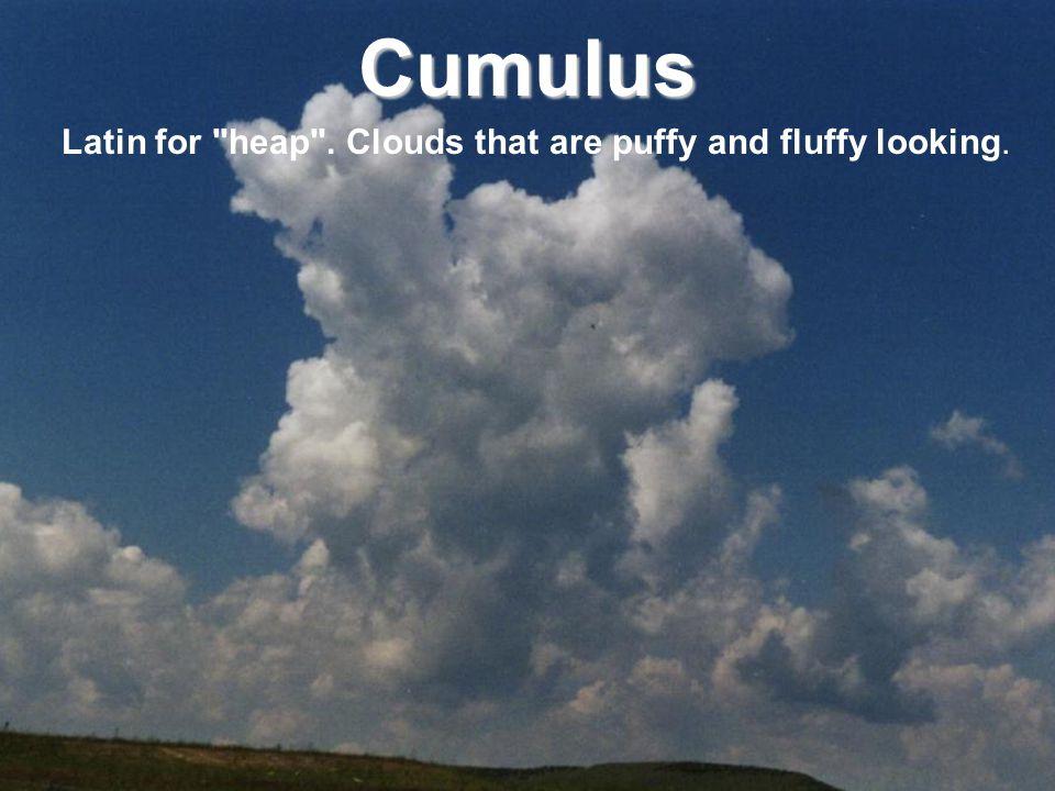 Cumulus Latin for