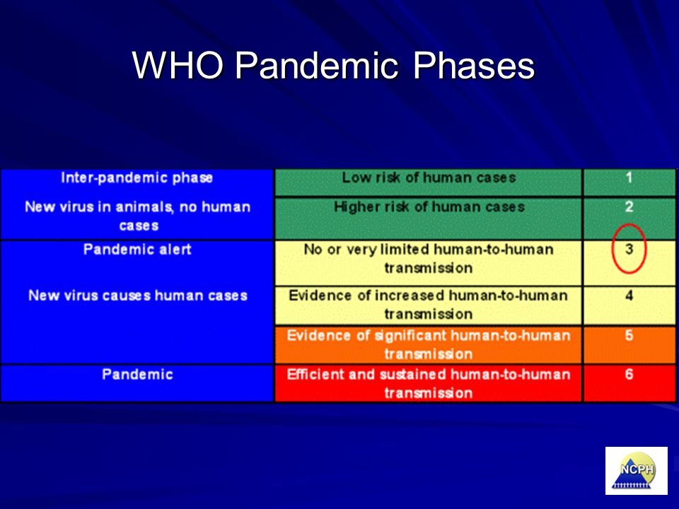 WHO Pandemic Phases