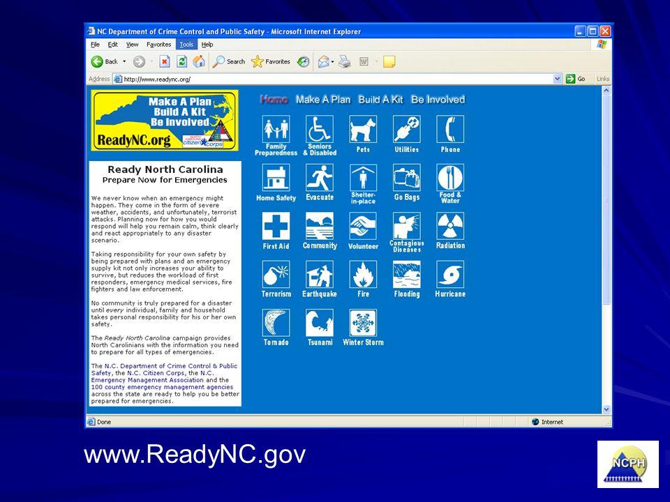 www.ReadyNC.gov