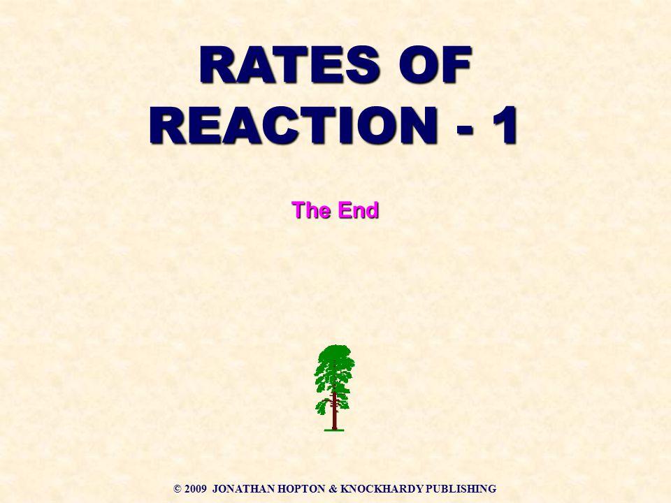 © 2009 JONATHAN HOPTON & KNOCKHARDY PUBLISHING RATES OF REACTION - 1 The End