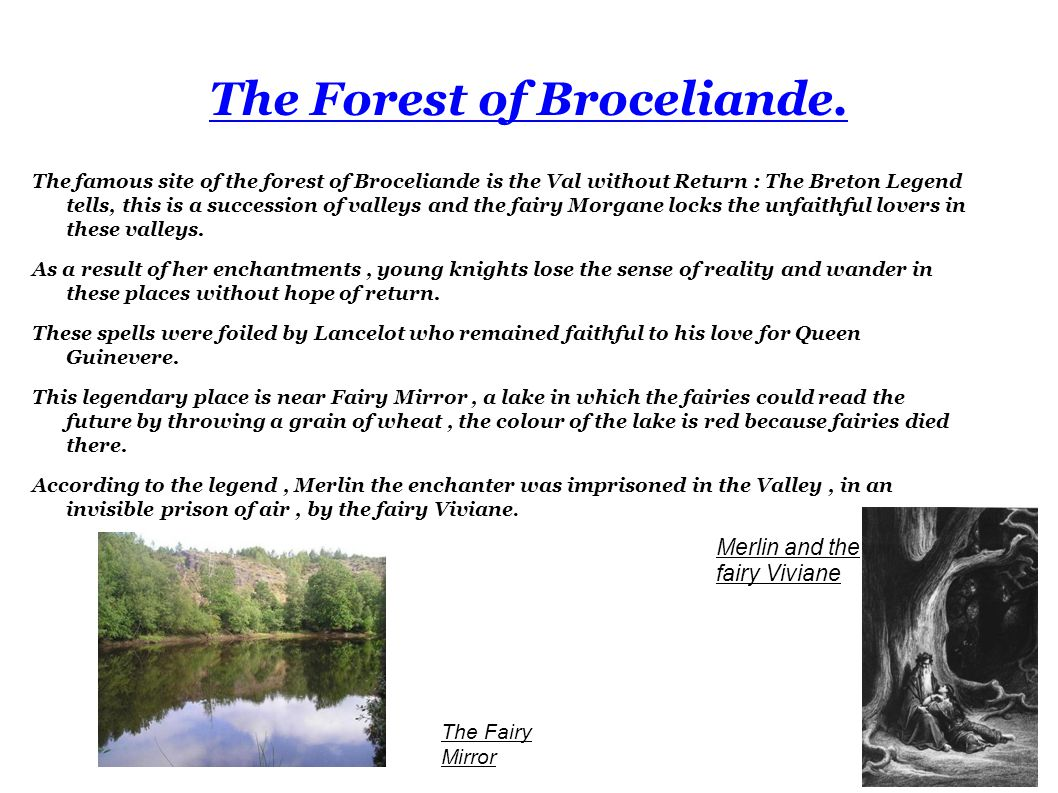 The Forest of Broceliande.