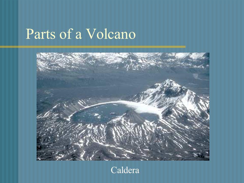 Parts of a Volcano Caldera