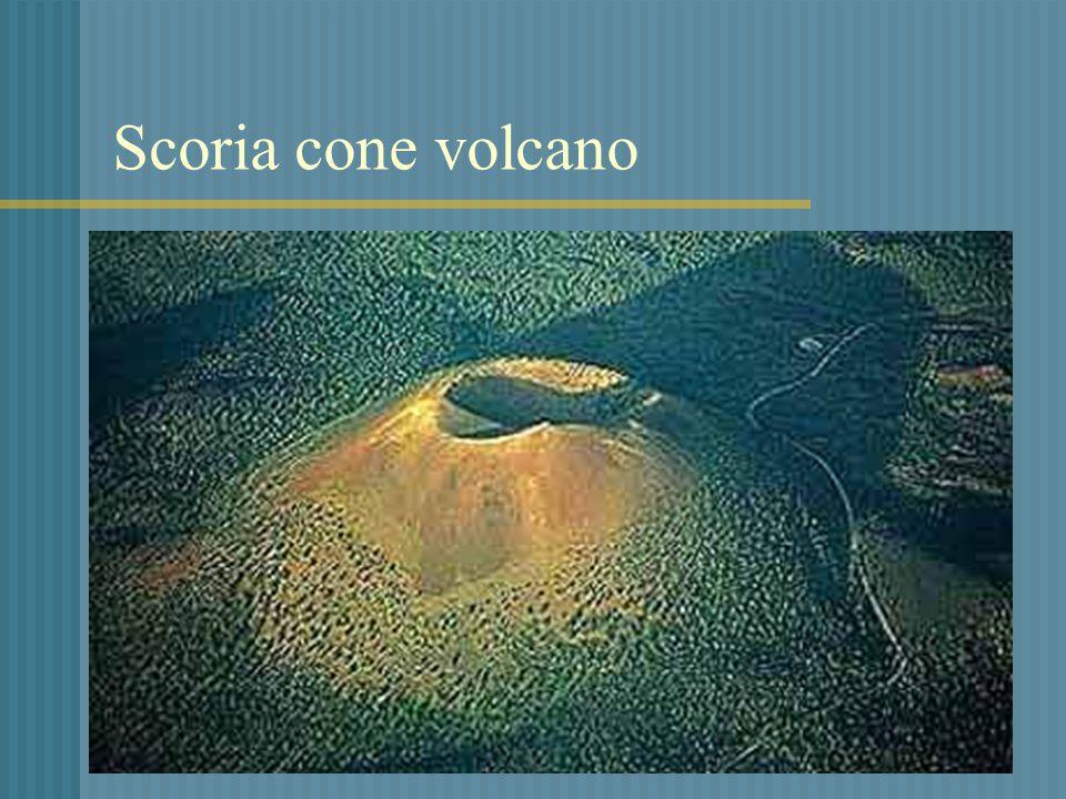Scoria cone volcano