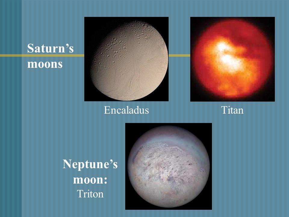 Encaladus Neptune's moon: Triton Titan Saturn's moons