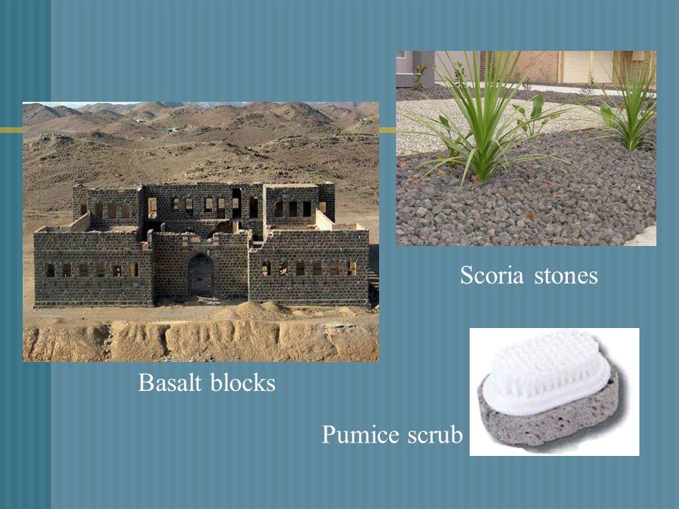 Basalt blocks Pumice scrub Scoria stones