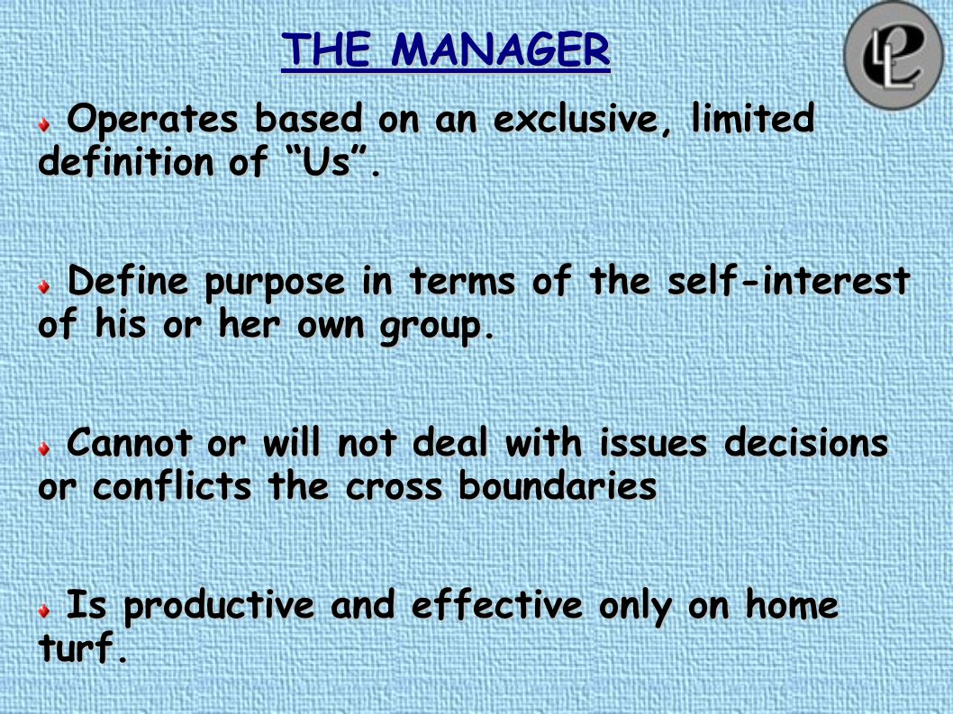 THE MANAGER Every few hundred years in western history there occurs a sharp transformation. Within a few short decades, society – its worldview, its b