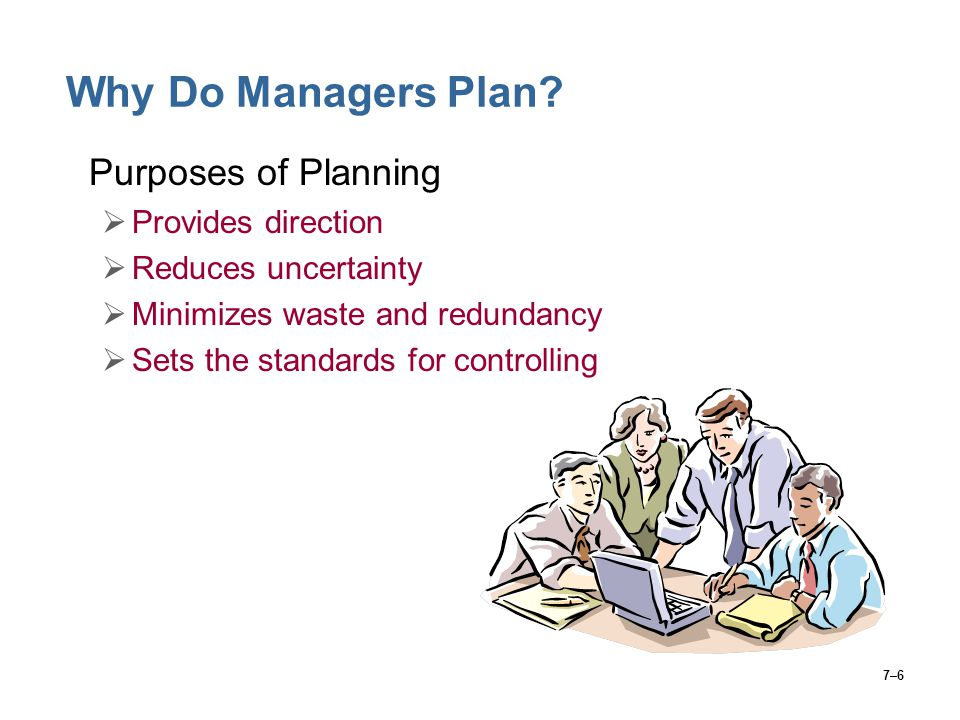 7–6 Why Do Managers Plan.