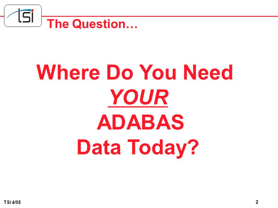 ADABAS Extraction & Change Data Capture NatWorks, Inc. Chris S. Bradley Presented by