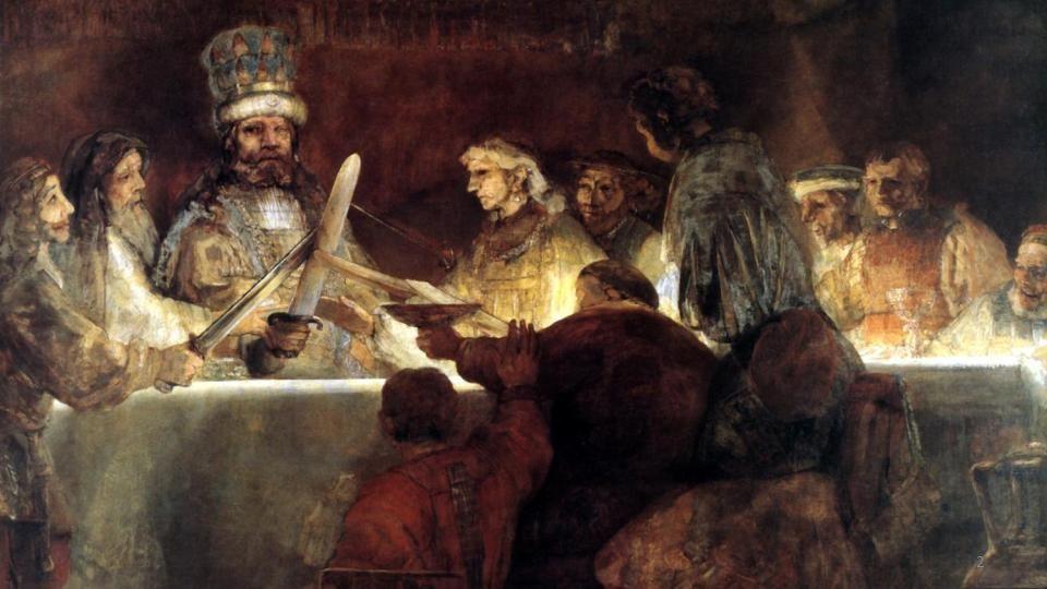 Rembrandt Harmenszoon van Rijn (1606-1669)- Danae -oil on canvas-1636 St Petersburg- Hermitage 52