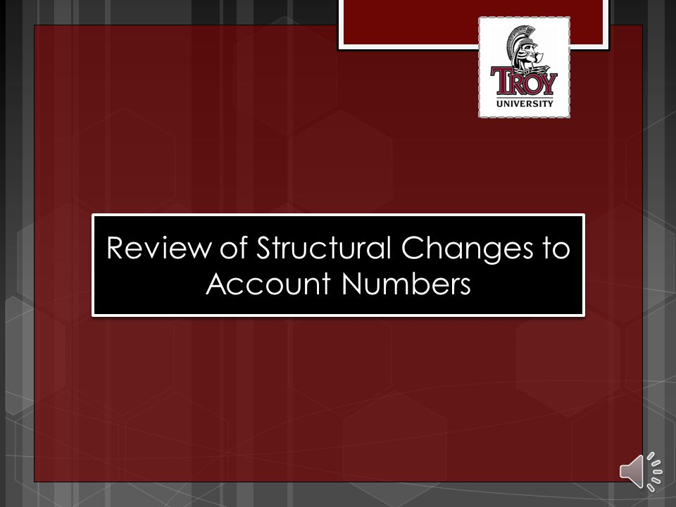 Overview Why did we change the general ledger (GL) account structure effective December 2013? 1. Expand the number of available digits in the departme
