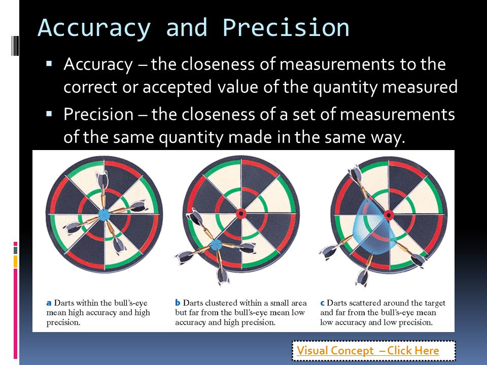 Accuracy and Precision  Accuracy – the closeness of measurements to the correct or accepted value of the quantity measured  Precision – the closenes