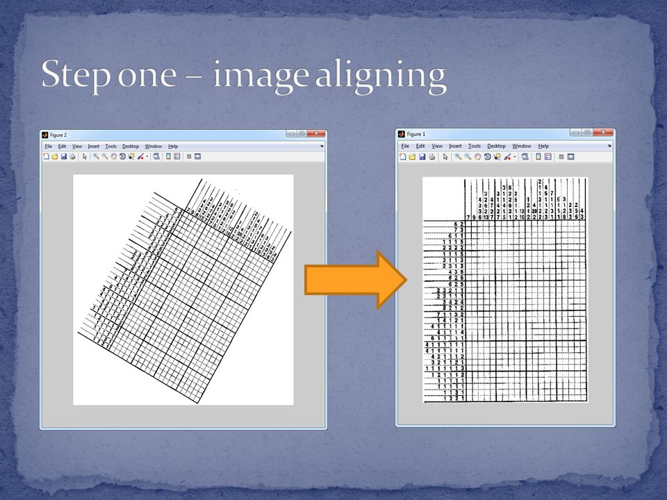Using Hough transform, for each angle: an attempt to fit a rotated grid is made.