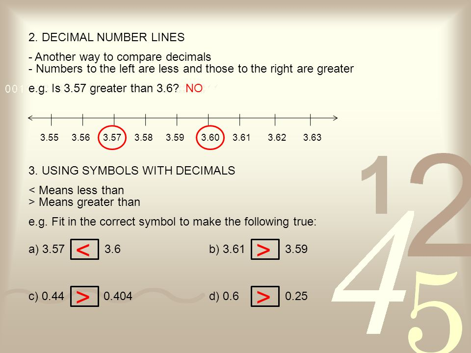 4.ADDING DECIMALS - Use whatever strategy you find most useful e.g.