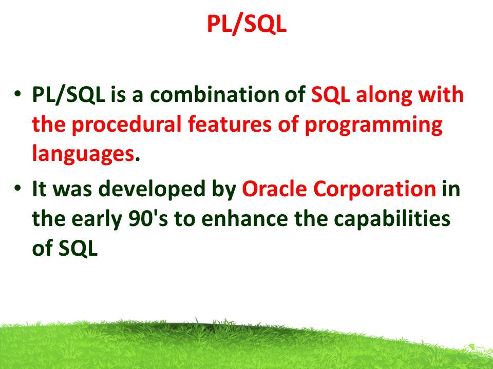 PL/SQL PL/SQL - Data Types Scalar Data Type Date TypeDescription Numeric Numeric values on which arithmetic operations are performed.