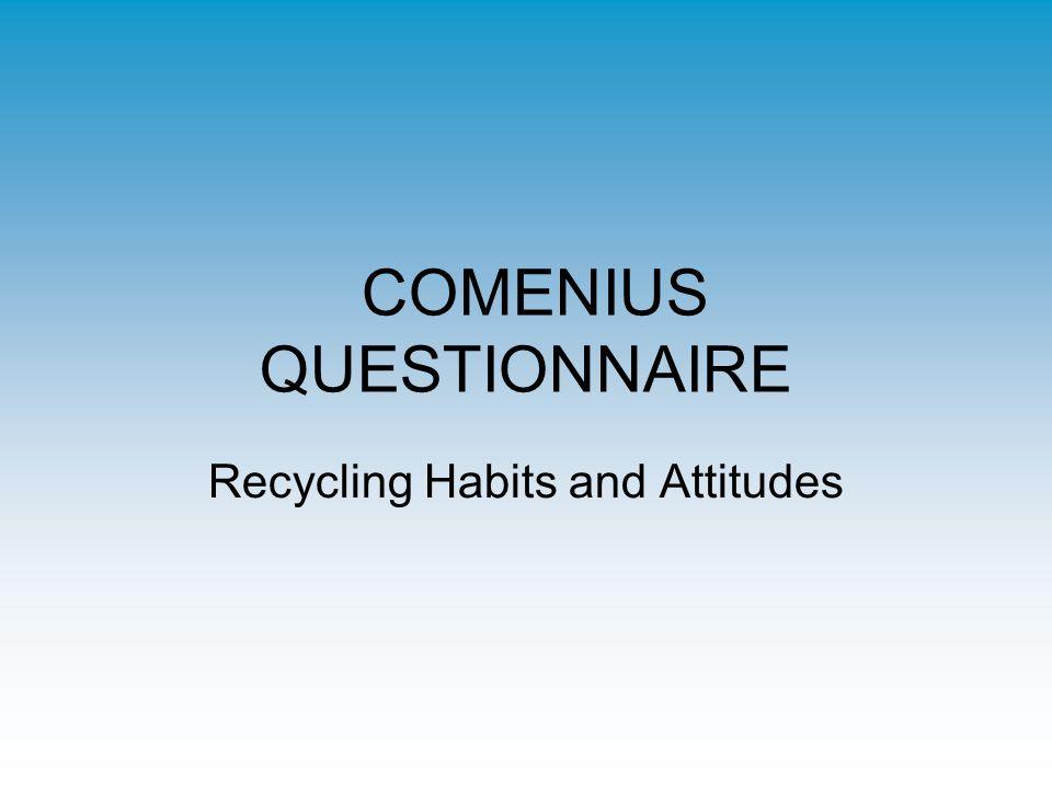 COMENIUS QUESTIONNAIRE Recycling Habits and Attitudes