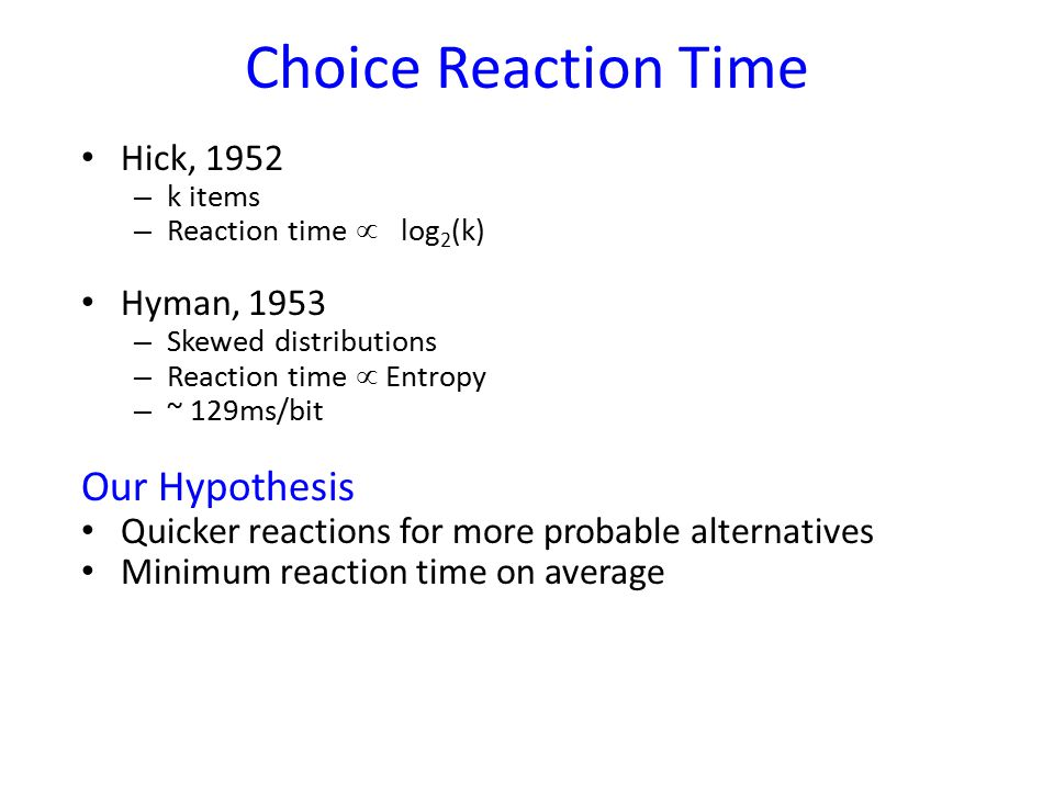 Choice Reaction Time Task