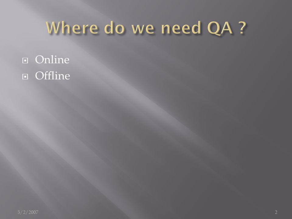  Online  Offline 5/2/20072
