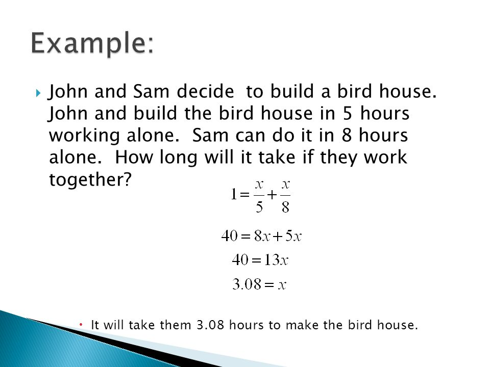  John and Sam decide to build a bird house.