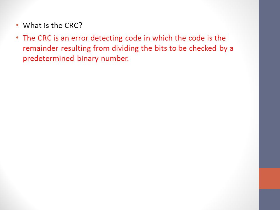 What is the CRC.