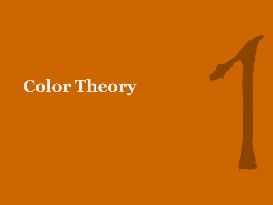 1 Color Theory