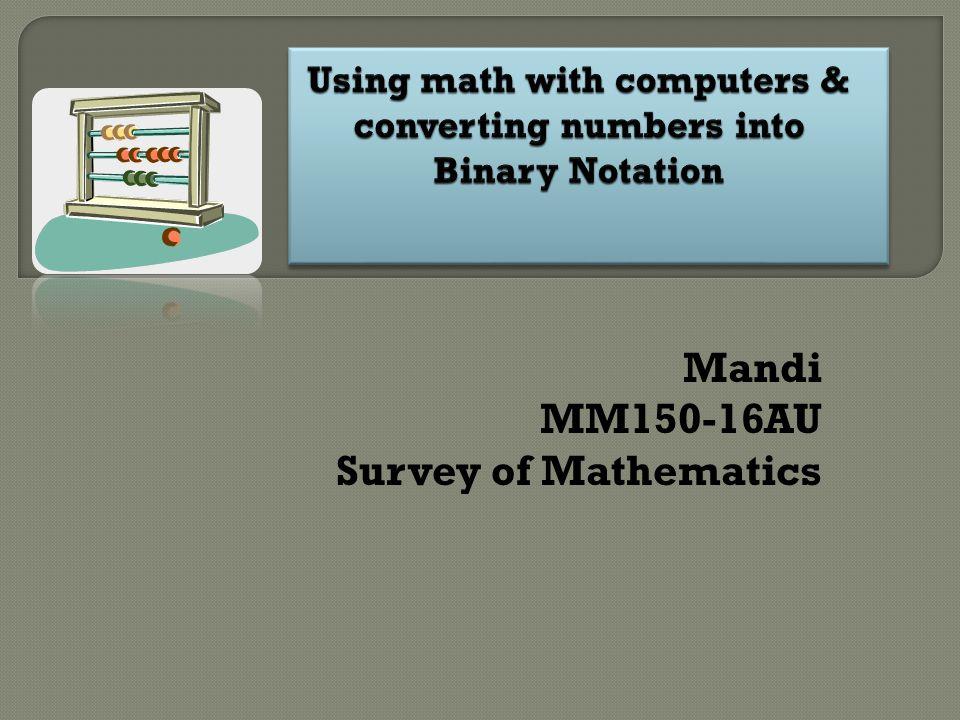 Mandi MM150-16AU Survey of Mathematics