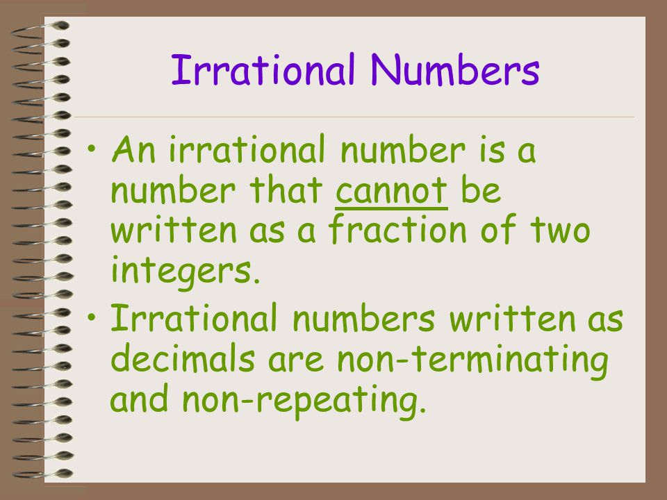 WHOLE Numbers REAL NUMBERS IRRATIONAL Numbers NATURAL Numbers RATIONAL Numbers INTEGERS