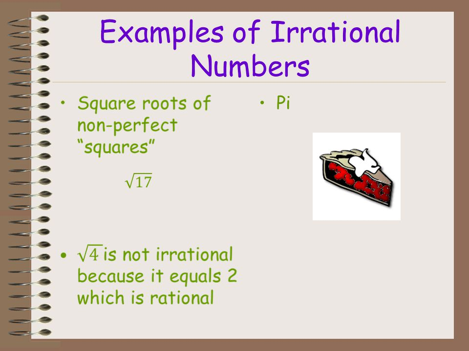 A repeating decimal may not appear to repeat on a calculator, because calculators show a finite number of digits. Caution! Irrational numbers can be w