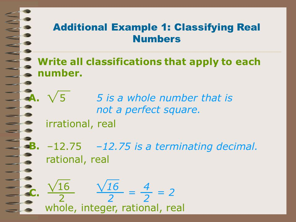 Try this! a) Irrational b) Irrational c) Rational d) Rational e) Irrational